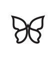 simple butterfly symbol vector image