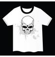 Skull t shirt design vector image vector image