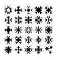 Snowflakes Icons 2 vector image vector image