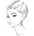 stylish woman sketch vector image vector image