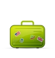 suitcase tourist vector image vector image