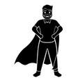 superdad cartoon character silhouette vector image