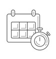 timetable line icon vector image vector image