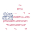 United states of America map words vector image vector image