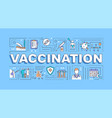 vaccination word concepts banner vector image vector image