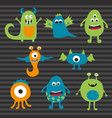 various monster creatures vector image