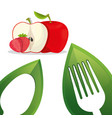 vegan food fresh fruit design vector image