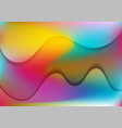 vibrant liquid gradient shiny waves abstract vector image vector image