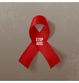 World Awareness AIDS Day Realistic curved Ribbon vector image