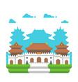 flat design jingan temple shanghai vector image
