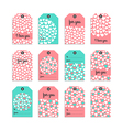 Collection of cute gift tag vector image