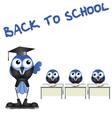 BIRD BACK TO SCHOOL vector image
