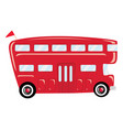 a cartoon bus transport vector image