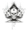 Ace of spades skull vector image