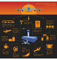 Airport air travel infographic with design vector image
