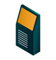 apparatus for payment icon isometric style vector image vector image