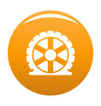 auto tire icon orange vector image