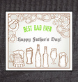 beer vintage hand drawn greeting card for father vector image