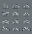 Bicycle Types Objects Icons Set vector image vector image