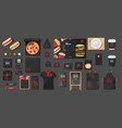 black mockup for pizzeria cafe fast food vector image vector image
