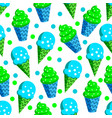 blue green ice cream pattern vector image vector image