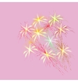 Bouquet of spring flowers on a pink background vector image vector image