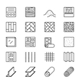 Building materials line icons vector image vector image