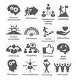 Business management icons Pack 16 vector image vector image