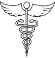 caduceus a symbol medicine vector image