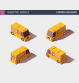 cargo truck transportation fast delivery or vector image vector image