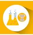 character man scientist experiment test tube vector image vector image
