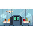 checking baggage and luggage at airport vector image