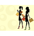 Chic women shopping vector image vector image