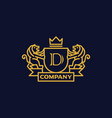 coat of arms letter d company vector image vector image