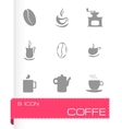 coffe icons set vector image vector image