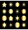 Collection of golden gradient icons vector image
