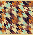 colored houndstooth with dots screen vector image