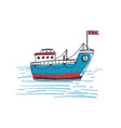 colorful drawing passenger ferry boat or marine vector image