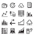 data icon set vector image