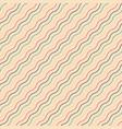 diagonal seamless wavy pattern - retro vector image