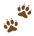 dog paw prints icon vector image vector image