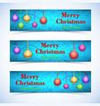 festive celebrating horizontal banners vector image vector image