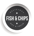 Fish and Chips vintage black stamp sticker vector image