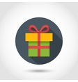 Flat Present box icon vector image vector image