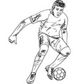 footbal player vector image vector image