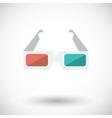 glasses 3d single icon