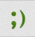 green grass wink smile 3d smiley grassy emoticon vector image vector image