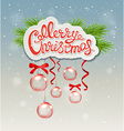 Greeting Inscription and red decorations vector image vector image