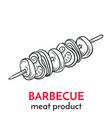 hand drawn barbecue icon vector image vector image