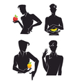 handsome men and fruits vector image vector image
